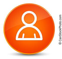 Member icon elegant orange round button