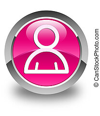 Member icon glossy pink round button