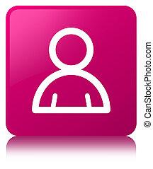 Member icon pink square button