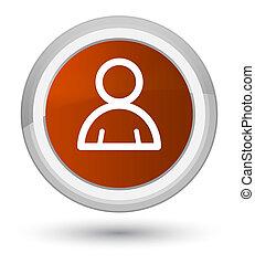 Member icon prime brown round button