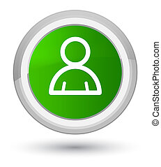 Member icon prime green round button