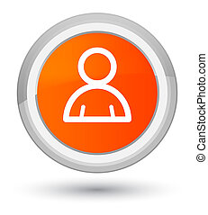 Member icon prime orange round button
