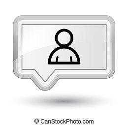 Member icon prime white banner button
