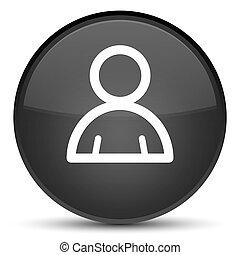 Member icon special black round button