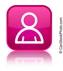 Member icon special pink square button