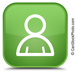 Member icon special soft green square button