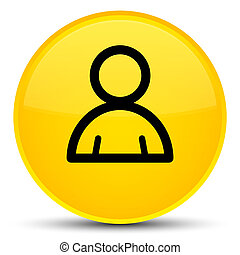 Member icon special yellow round button