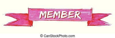 member ribbon - member hand painted ribbon sign