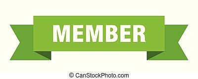 member ribbon. member isolated sign. member banner
