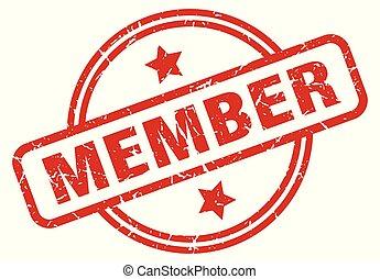 member round grunge isolated stamp