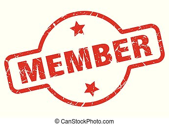 member stamp isolated on white