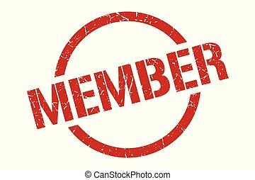 member stamp - member red round stamp