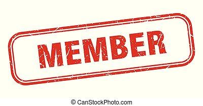 member stamp. member square grunge sign. member