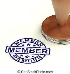 Member Stamp Showing Membership Registration And Subscribing...