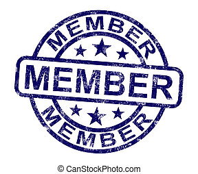 Member Stamp Shows Membership Registration And Subscribing -...