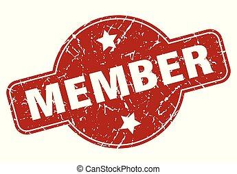 member vintage stamp. member sign