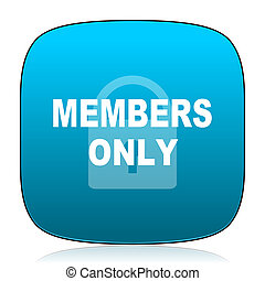 members only blue icon