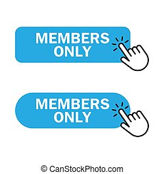 members only button icon