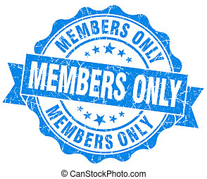 members only grunge blue stamp