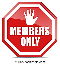 Members only icon - Members only red icon