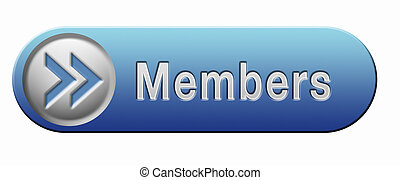 members only icon sign or sticker become a member and join...