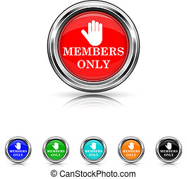 Members only icon - six colours set