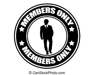 Members Only label - Label with the text Members Only ...