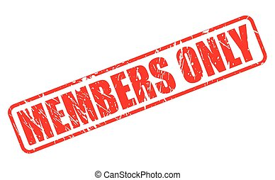 Members only red stamp text on white