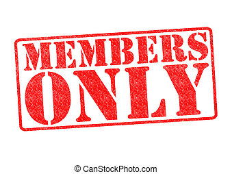 MEMBERS ONLY Rubber Stamp over a white background.