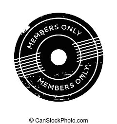 Members Only rubber stamp