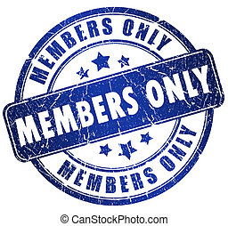 Members only stamp isolated on white