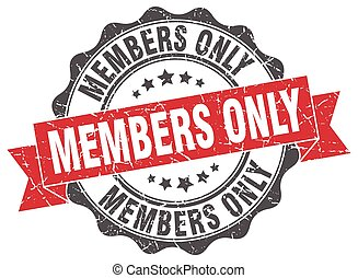 members only stamp. sign. seal
