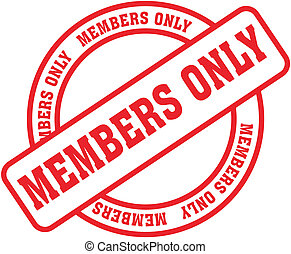 members only word stamp1 - members only in vector format