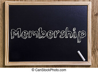 Membership - New chalkboard with 3D outlined text