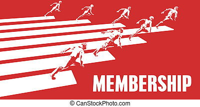 Membership with Business People Running in a Path