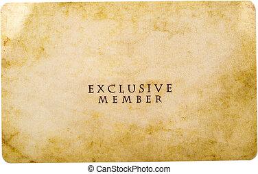 membre, exclusif