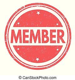 membro, gomma, grunge, francobollo