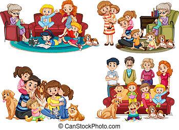 membro, set, famiglia