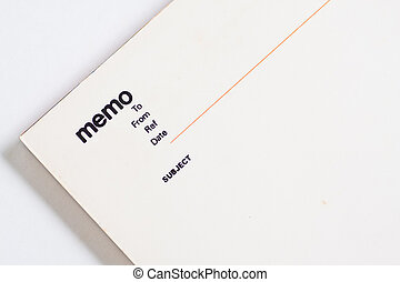 memo, anteckningsbok, vaddera, tom