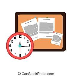memo board office isolated icon design