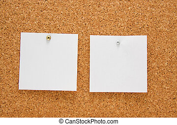 memo board with empty post-it