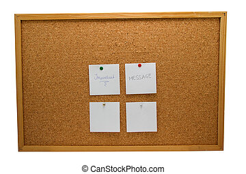 memo board with message