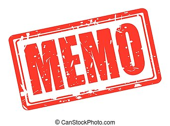 Memo red stamp text on white