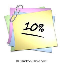 Memo with Paper Clip - 10 %