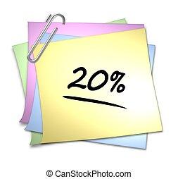 Memo with Paper Clip - 20 %
