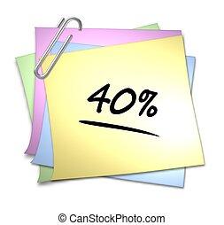 Memo with Paper Clip - 40 %