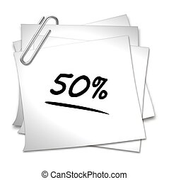 Memo with Paper Clip - 50 %