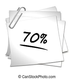 Memo with Paper Clip - 70 %
