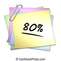 Memo with Paper Clip - 80 %