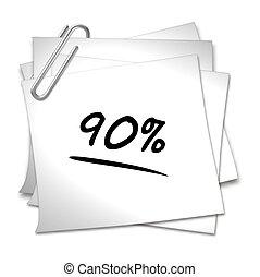Memo with Paper Clip - 90 %